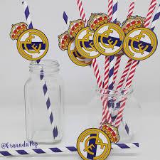 Bombillas De Papel Para Cumpleanos Real Madrid 5 440 En