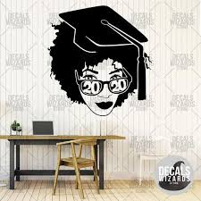 Afro American Woman Graduation Student High School College Etsy