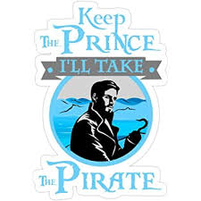 Amazon Com Jess Sha Store 3 Pcs Stickers Keep The Prince I Ll Take The Pirate Captain Hook Ouat Sticker For Laptop Phone Cars Vinyl Funny Stickers Decal For Laptops Guitar Fridge Kitchen Dining