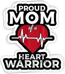 Amazon Com Maximili Proud Mom Of A Heart Warrior Chd Awareness Gift 4x3 Vinyl Stickers Laptop Decal Water Bottle Sticker Set Of 3 Kitchen Dining