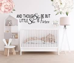 And Though She Be But Little She Is Fierce Wall Decal Sticker Cling De Pink Forest Cafe