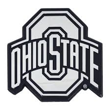 Set Of 2 Ncaa Ohio State University Buckeyes Chrome Emblem Automotive Stick On Car Decal Christmas Central