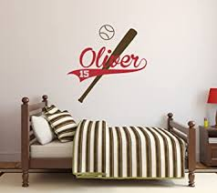 Amazon Com Personalized Baseball Name Wall Decal Baby Boy Room Decor Nursery Wall Decals Sport Wall Decal Vinyl Sticker Baby