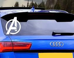 Avengers Car Decal Etsy