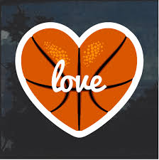 Love Basketball Weatherproof Decal Sticker Custom Sticker Shop