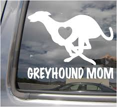 Amazon Com Right Now Decals Greyhound Mom Love Heart Dog Puppy Cars Trucks Moped Helmet Hard Hat Auto Automotive Craft Laptop Vinyl Decal Store Window Wall Sticker 01007 Home Kitchen