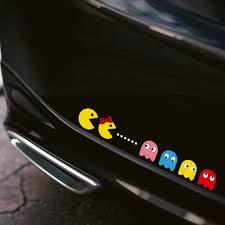 Fashion Pacman Fun Car Sticker Window Decal Vinyl Bumper Tailgate Tuning Styling Ebay