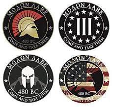 4 Pack Molon Labe Stickers Decals Spartan Race Greece 2nd Amendment Right Police Fire Fop 911 Car Sticker Usa Sticker Decal Graphics Amazon Canada