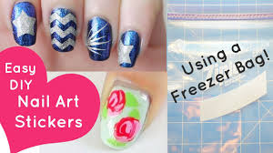 easy diy nail art stickers using a