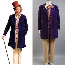 Charlie and The Chocolate Factory Willy Wonka Costume Men's Coat Jacket  Cosplay Custom Made for sale online