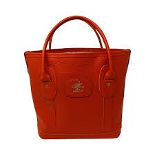 orange mini tote bag handmade luxury