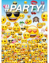 8 Tarjetas De Invitacion Emoji Fiesta De Cumpleanos Emoji