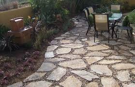 flagstone with pea gravel patio ideas