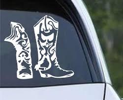 Cowboy Cowgirl Western Boot Die Cut Vinyl Decal Sticker Decals City