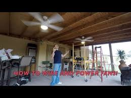 how to install outside ceiling fans