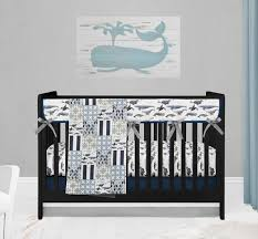 baby boy whale bedding set nautical