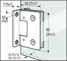 self centering showcase shower door