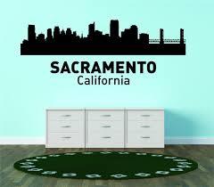 Sacramento California United States Major City Geographical Map Landmark Vinyl Wall Decal 18x42 Walmart Com Walmart Com
