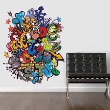 V C Designs Ltd Tm Large Full Colour Graffiti Wall Sticker Wall Decal Wall Art Vinyl Wall Mural Amazon Co Uk Kitch Graffiti Wall Graffiti Wall Art Graffiti