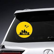 Silhouette Of Military Rangers Sticker