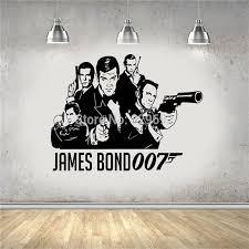 Movie Poster James Bond 007 1962 2015 Diy Wall Art Sticker Decal Vinyl Wall For Room Decoration Vinyl Wall Wall Art Stickersjames Bond Aliexpress