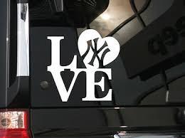 I Love New York Yankees Baseball Vinyl Car Decal Sticker 5 5 W Ebay