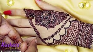 stylish simple kashees mehndi design