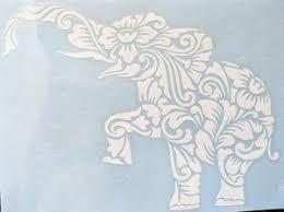 Zen Tangled Tribal Intricate Elephant With Flowers Vinyl Decal For Ca Ftw Custom Vinyl