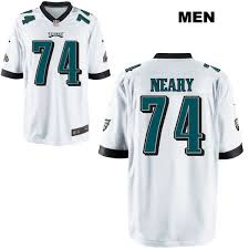 Aaron Neary White Mens #74 Jersey - Philly Eagles Zone