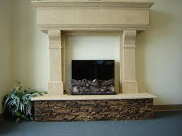 how to create a stacked stone fireplace