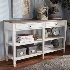 wood console table sofa table decor