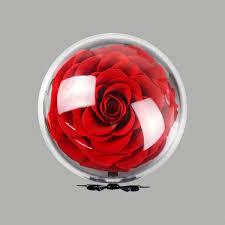 acrylic ball rose preserved flower