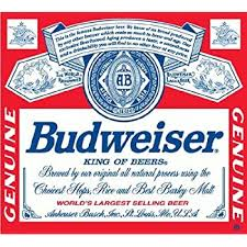 Amazon Com Budweiser Beer Drink Bumper Sticker Decal Highest Quality From Boston Decal Works 5 Automotive