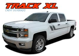 Track Xl Silverado Side Stripes Silverado Decals Silverado Vinyl Graphics