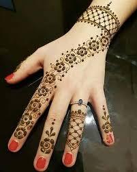 simple easy bracelet mehndi designs