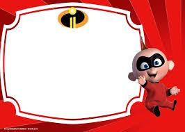 Free The Incredibles 2 Birthday Invitations Templates Invitaciones De Cumpleanos Personalizadas Invitacion Cumpleanos Nino Invitaciones De Cumpleanos