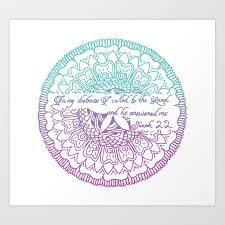 Equanimity Jonah 2 2 Pink Blue Art Print By Downbythewater Society6