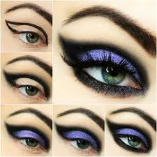 make up of witch eyes of fairy step by