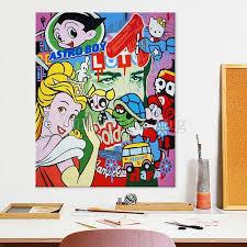 Pop Art Graffiti Art Andy Warhol Acrylic Canvas Painting Hand Etsy