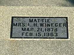 Mattie West Horne Wineger (1878-1963) - Find A Grave Memorial
