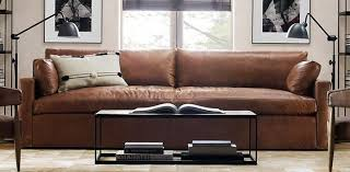 belgian track arm leather sofa