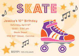 Free Printable Roller Skating Party Invitations Fiesta De Patin