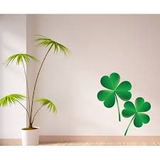 3 Leaf Clovers St Patrick S Day Wall Decal Vinyl Decal Car Decal Idcolor010 25 Inches Walmart Com