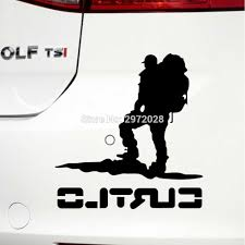 10 X Car Styling Hiker Backpackers Backpacking Hiking Decorations Reflective Auto Decal Cartoon Car Sticker Creative Vinyl Car Stickers Aliexpress