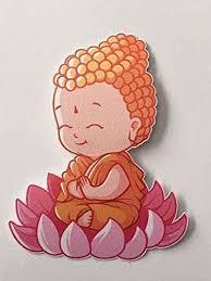 Amazon Com Cute Little Buddha Monk Lotus Flower Vinyl Sticker Decal Laptop Decal Car Window Truck Decal Sticker 4 Inches Handmade