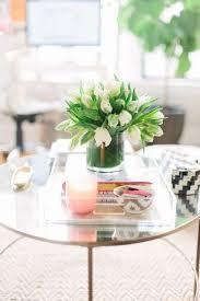 round coffee table decor tray