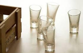 tipsy glass set of 6 small shot glasses
