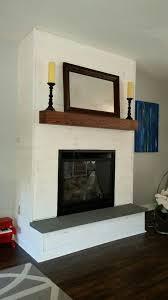 fireplace makeover diy whitewash panel