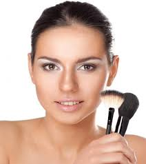 how to apply blush on a round face