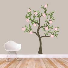 Pink Flower Tree Printed Wall Decal